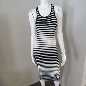 Love Tree  Midi Racerback Black/White Dress
